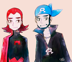 Maxie and Archie : RSE Ver. by Chibi-Castform