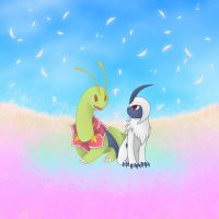 Meganium and Absol - Heaven's Touch by MaritheHedgiewolf45