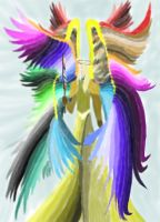 Make Rainbow Angel No Pen by daylover1313