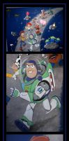 toy story mural  -  commission by nightwing1975