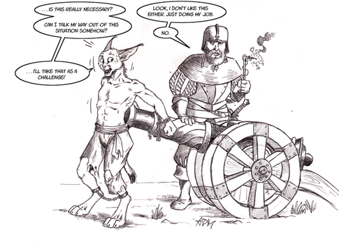 ''Daily'' sketch - Cannon Fodder by 0laffson