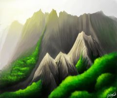 Mountain Valley by Callthistragedy1