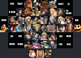 Street Fighter X Tekken Roster by Kirby-Kid