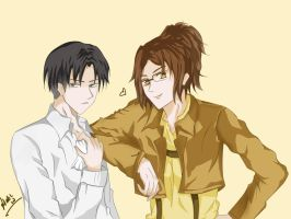 Hanji and Rivaille by tiansenou