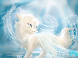 Frozen: Elsa as a wolf by Sn0wyAnGel