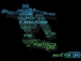 Skate for Life typography by ayer-online