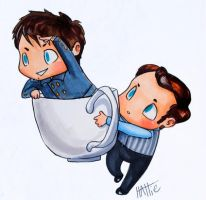 Captain/Coffee Boy Teacup Adventures by Mad-Hattie