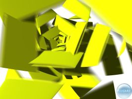 Yellow abstraction by LucGrigg