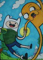 Adventure Time ACEO by LadyNin-Chan