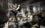 Climbing Cat by Ophelia-Overdose