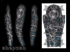 Full bio-mech sleeve by shepush