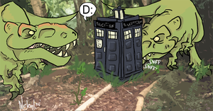 Doctor Who: TARDIS no Likey. by Mighty-Mice