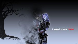 Mass Effect - Shepard and Tali - I want more time by reddevdev