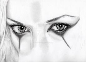 Practising Eye's:Self Portrait (work in progress) by GemmaFurbank