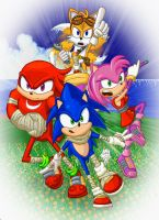 Poster Comission - Sonic Boom - PRINT by GazTV-inc