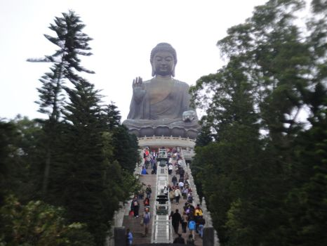 Tian Tan Buddha by clayton-northcutt