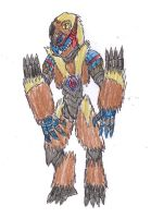 Beast Wars-Meanstreak Robot Mo by LordLevithan422