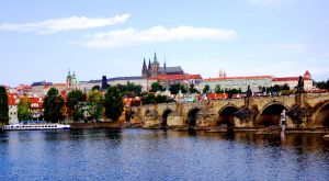Charles Bridge and Prague Castle by Vybral