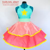Pearl Steven Universe Cosplay Pinafore Dress by DarlingArmy