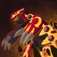 Omega Groudon by RhythmAx