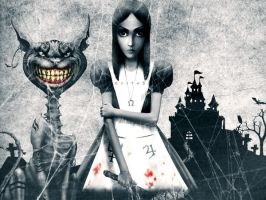 Alice Madness returns photoshop wallpaper by evita92