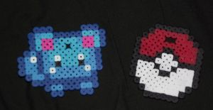 Azurill and Pokeball Perlers by chkimbrough
