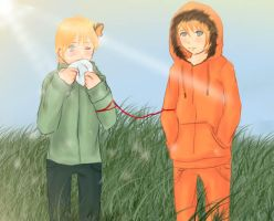 A Field of Dandelions-Bunny by Mitsuki1Honey