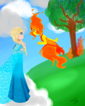 fire and snow by Titi-0910