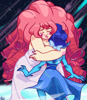 Space Mom hugs by Bahnloopi