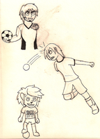 Soccer Sketches by cosmic-clover