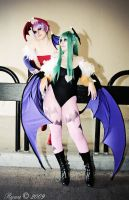 Morrigan and Lilith Vampire by Alyciane