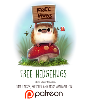 Day 1445. Free Hedgehugs by Cryptid-Creations