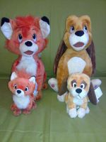 Fox and Hound plush by Frieda15
