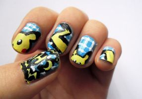 pikachu nails by Kimilovesyu