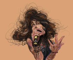 Steve tyler cartoon by nosoart