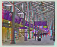 Passengers at the airport 3D by zour