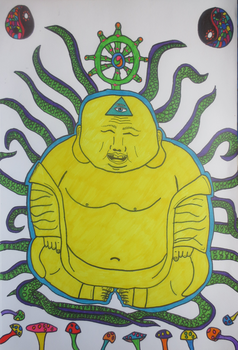 Psychedelic Budai by StazeArt