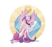 Cadance and the Crystal Heart by xkappax