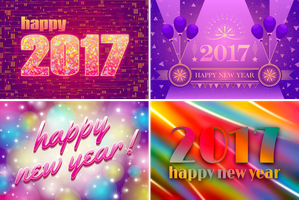 Happy New Year Cards 2017 by Viscious-Speed