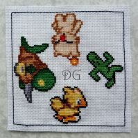 Final Fantasy embroidery by didi-gemini