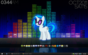 Rainmeter DJ P0N-3 Desktop by goldenacorn93