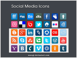 Social Media Icons by msergt