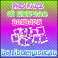 PNG pack 16 marcos by LittleKatycat