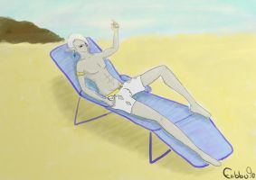Ghirahim at the Beach by Embbu90