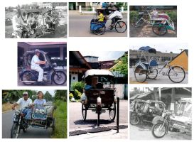 Indonesian Becak by hh
