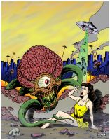 Invasion of the Astro Brains! - Color by ColinRichards