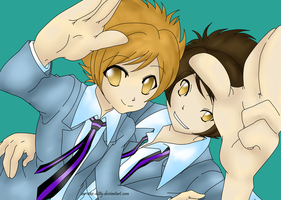 Ouran Twins linesnotmine by animlcrosr