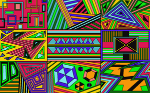 Abstract Group 4 Color by drachenlilly