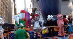 Cartoon characters on a float by FelixFan9000