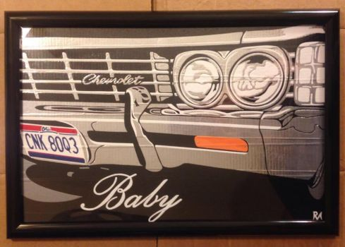 SPN Baby Duct Tape Art by DuctTapeDesigns